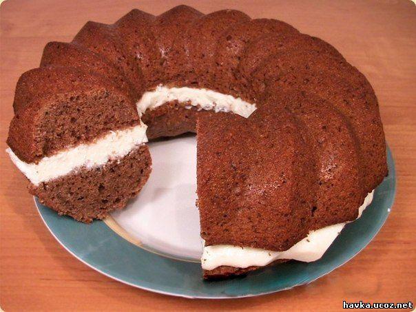 Кекс торт с кремом